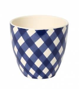Bilde av XL Mug check blue